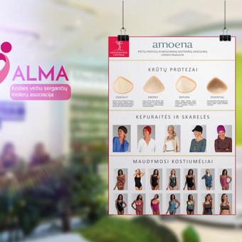 Konferencinio stendo dizainas pagal kliento pageidavimus.