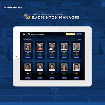 """Oficialus Europos Badmintono Federacijos """"sport manager"""" tipo žaidimas (android / ios). Pririštas prie žaidėjų rezultatų su galimybe gyvai stebėti varžybas ir sekti rezultatus."""
