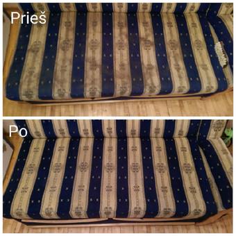 Kokybiškas minkštų baldų valymas, kilimų valymas! / Baldų valymas / Darbų pavyzdys ID 821317