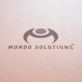 Mondo Solutions logotipo dizainas