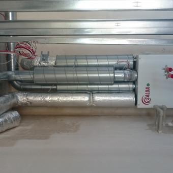 Kotedžo rekuperacinės vėdinimo sistemos montavimas.