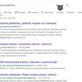 Google Ads reklama prekei, produktui, kategorijai (el.parduotuvėms, paslaugų reklamavimui).