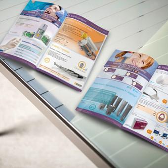 Akcijų leidiniai - pavasaris ir vasara. Svarbiausias tikslas buvo sukurti dizainą, jaukiai ir žmogiškai perteikiantį medicininius įrenginius.