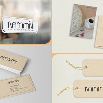 Keli įmonės vizualinio identiteto elementai: Iškaba ant durų; Atvirukai su įmonės gaminiais; Vizitinės kortelės; Prekių etiketės. Pirmenybė teikiama perdirbtam popieriui, kas atitinka ...