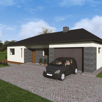 Vieno aukšto gyvenamasis namas (120 kv.m.)
