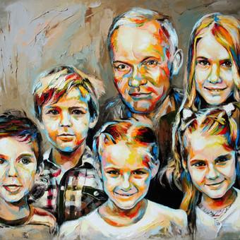 """Paveikslas """"JK16-0301 Portrait"""", aliejus-drobė, 100x80cm (PARDUOTAS)"""