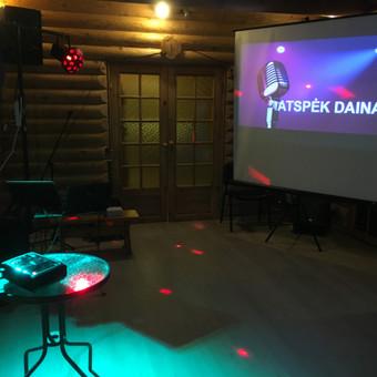 Projektorius, karaoke.