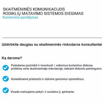 Verslo analitika / Strategija / Rinkodara / Marketingas / Kęstutis Vileikis / Darbų pavyzdys ID 852255