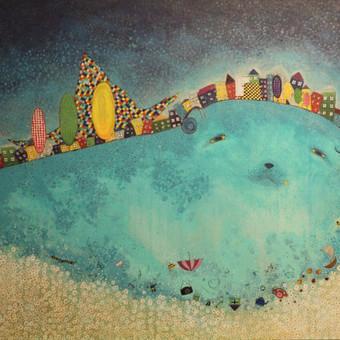 Morkaus sapnas, 70 x 100 cm, akrilas, drobė