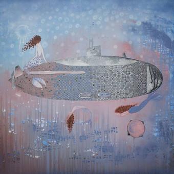 Sirenos, 100 x 80 cm, akrilas, linas