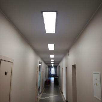 LED panelių montavimas