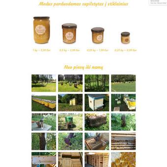 Bitininko prekiaujančio medumi internetinė svetainė www.seimosmedus.lt