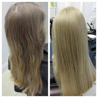 Svarbiausia jūsų plaukų būklė. Sveiki, gražūs ir žvilgantys plaukai mūsų pagrindinis tikslas. Dažoma augaliniais dažais nepakenkiant plaukams. Viskas priklauso nuo jūsų norų, pašviesi ...