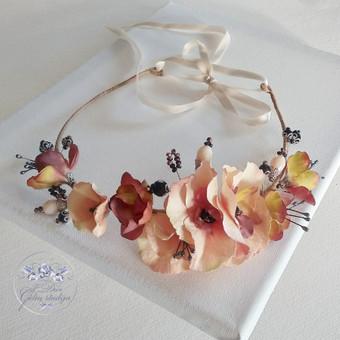 Šilko gėlių lankelis (rankų darbas)