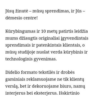 Tekstų kūrėja | Straipsnių, įvairių tekstų rašymas / Jurgita Juknaitė-Kozlova / Darbų pavyzdys ID 879349