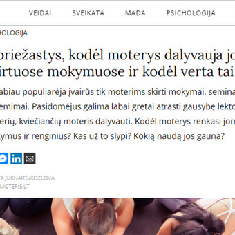 Tekstų kūrėja | Straipsnių, įvairių tekstų rašymas / Jurgita Juknaitė-Kozlova / Darbų pavyzdys ID 879369