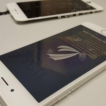 Mūsų svečias - lenktas iPhone 6! Nėra nieko neįmanomo. Ištiesinome korpusą ir pakeitėme ekraną. Remonto kaina - 115€.