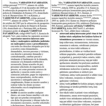 Vertimas (anglų, ispanų, lietuvių klb.) / Gintautė Launikonė / Darbų pavyzdys ID 889889