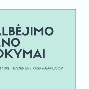 UŽIMTUMAS/EDUKACIJA - Renginių organizavimas / Rasa / Darbų pavyzdys ID 892301