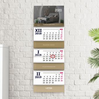 UAB Lonas 2020 m. Kalendoriaus dizainas @ 2019 Linorté Design
