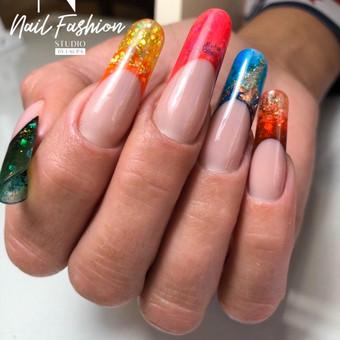 Akriliniai,geliniai nagai.gel.lakavimas,pedikiūras / Nail fashion studio / Darbų pavyzdys ID 898859