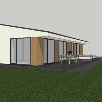 Individualus projektas su statybos leidimu ir visom reikalingos projekto dalim.