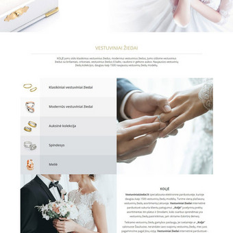Internetinė parduotuvė prekiaujanti vestuviniais žiedais: www.vestuviniaiziedai.lt.