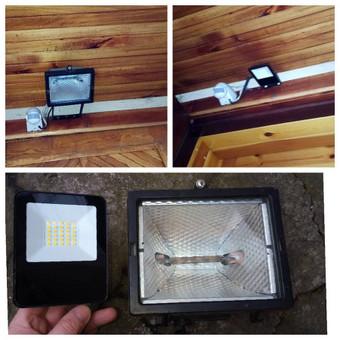 Lauko šviestuvo keitimo darbai. Ateina laikas atsinaujinti: naudokite LED apšvietimą. LED šviestuvas reikalauja mažiau priežiūros ir lengviau pritaikomas Jūsų interjere ir eksterjere.