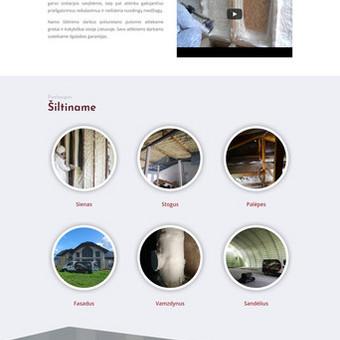 Internetinė svetainė įmonei šiltinančiai namus su poliesterio putomis: www.poliputos.lt