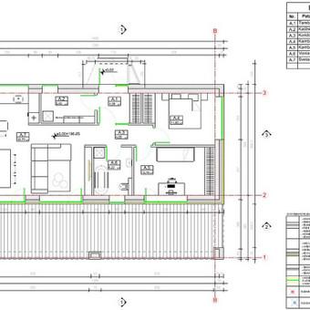 Individualus projektas su statybos leidimu.