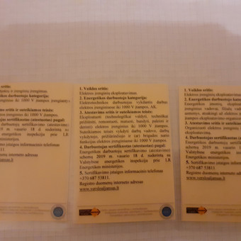 Elektra Vilniuje( Elektra, automatika, silpnos srovės) / Robertas Az. / Darbų pavyzdys ID 962657