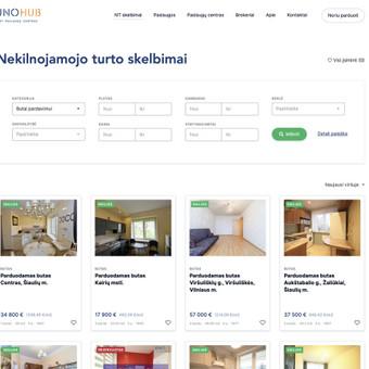 Nekilnojmao turto skelbimų svetainė. Integracija su TopBroker API (https://topbroker.lt/). Demo: https://unohub.dev.hdd.lt/nekilnojamojo-turto-skelbimai/?kategorija=flat