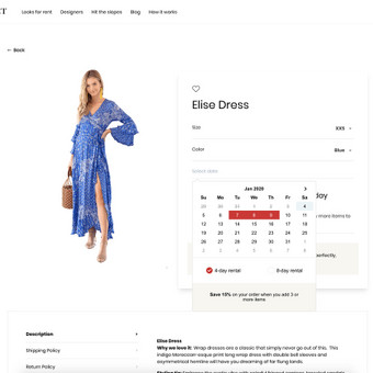 Woocommerce pagrindu rūbų nuomos platforma. Nestandartinis funkcionalumas perdarant tam tikras užsakymo eigos dalis. Demo: https://ladyjet.dev.hdd.lt/shop/