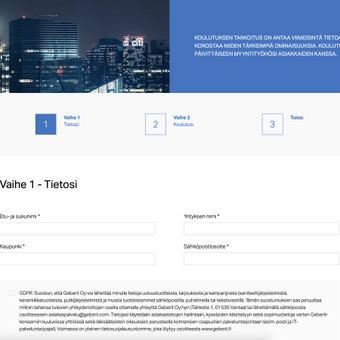 VueJS SPA forma pagal kliento pateiktą dizainą ir funkcionalumą. Demo: https://quiz.dev.hdd.lt/#/