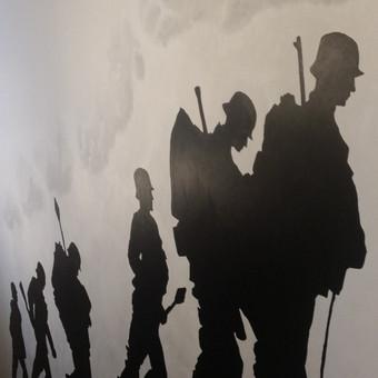 Sienų tapyba. Akrilo technika. Judai/balta.