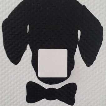 Piešinys ant sienos. Šunų darželis HaChiko. Taksas. Jungiklis - nosis.