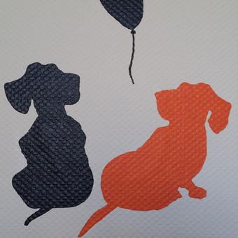 Juodai/baltai/oranžinė. Sienų kontūriniai piešiniai.