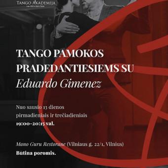 Argentinietiško Tango pamokos su Eduardo Gimenez / Eduardo Gimenez / Darbų pavyzdys ID 983983