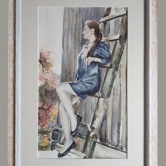 Portretas iš nuotraukos. Akvarelė.  #woman #watercolor #painting #portraits_from_photos
