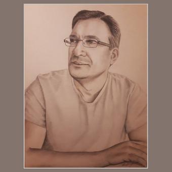 """Portretas iš nuotraukos. Anglies pieštukai, pastelė. #Portrait_Of_A_Man##pastel# #Vyroportretas""""#piešinysišnuotraukos##drawingfromthepicture#"""