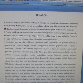 Studentų konsultavimas rengiant rašto darbus / Dana / Darbų pavyzdys ID 988441