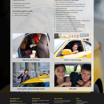 Internetinė svetainė taksi įmonei: www.neotaksi.lt
