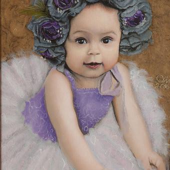 """""""O aš Prima balerina"""" aliejiniai dažai ant 40*30cm. drobės."""