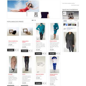 Internetinių svetainių | El-parduotuvių kūrimas Jūsų mieste / Jonas Urbonas / Darbų pavyzdys ID 105099