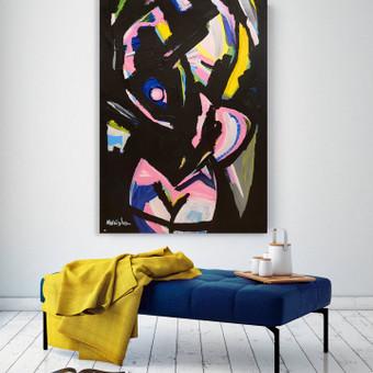Moderni tapyba ant drobės - Paveikslai interjerui / Monisha Art / Darbų pavyzdys ID 994239