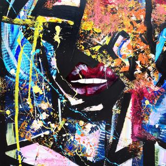 Moderni tapyba ant drobės - Paveikslai interjerui / Monisha Art / Darbų pavyzdys ID 994247