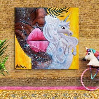 Moderni tapyba ant drobės - Paveikslai interjerui / Monisha Art / Darbų pavyzdys ID 994249
