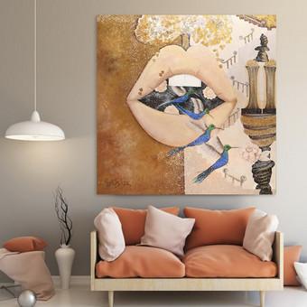 Moderni tapyba ant drobės - Paveikslai interjerui / Monisha Art / Darbų pavyzdys ID 994255