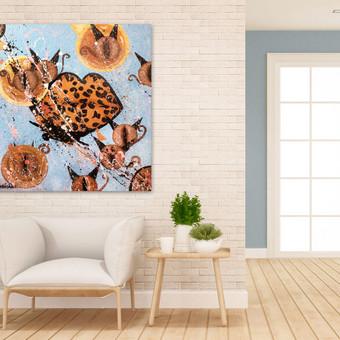 Moderni tapyba ant drobės - Paveikslai interjerui / Monisha Art / Darbų pavyzdys ID 994263