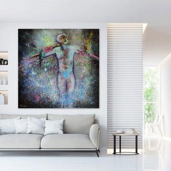 Moderni tapyba ant drobės - Paveikslai interjerui / Monisha Art / Darbų pavyzdys ID 994265